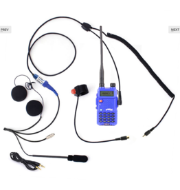 rugged radios RH5R 2-Way Motorcycle UHF/VHF 5 Watt Radio Communication Kit
