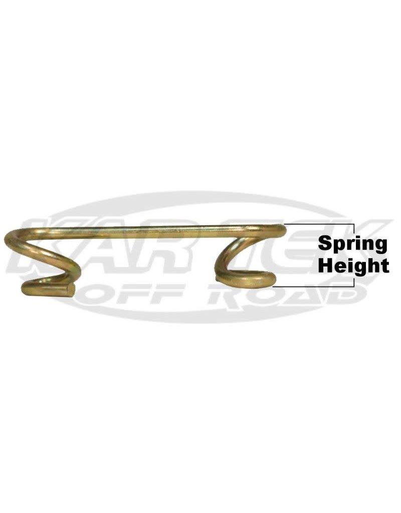 """KarTek Quarter Turn Panel Fastener 0.375"""" Height #6 Steel S-Springs"""