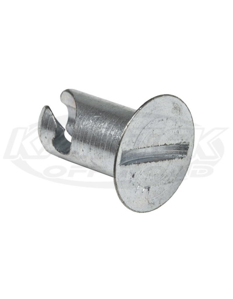 KarTek Quarter Turn Fastener Countersunk Steel Button 0.550 Length For #6 Spring