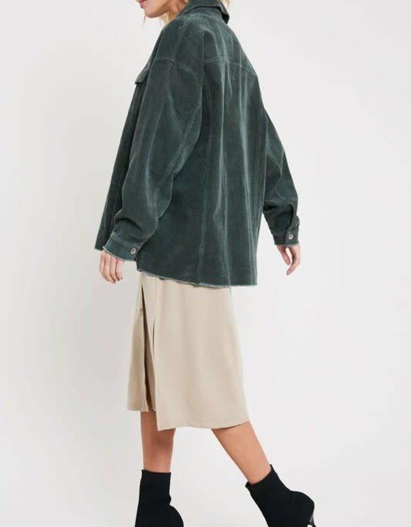 Wishlist Oversized Corduroy Jacket