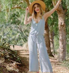 Everly Everly Button Up Jumpsuit