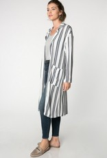 Everly Striped Maxi Jacket