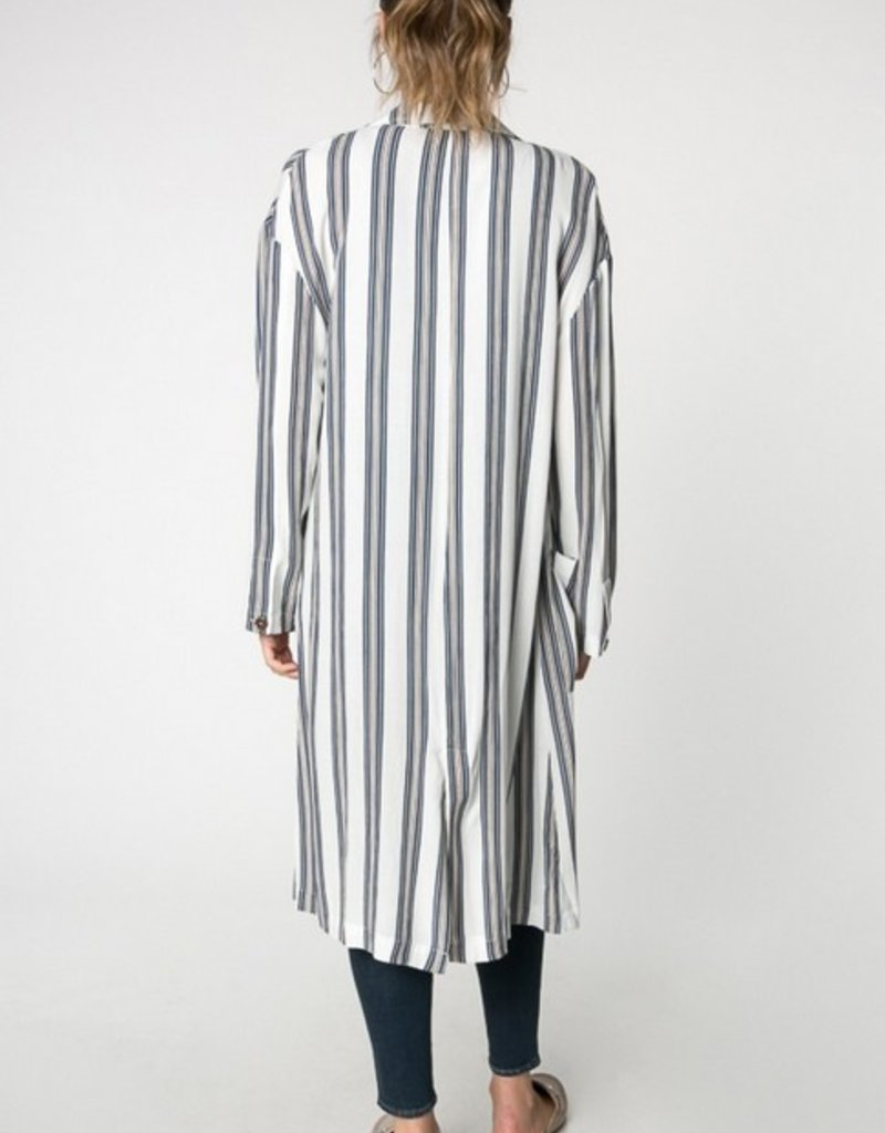 Everly Striped Maxi Jacket