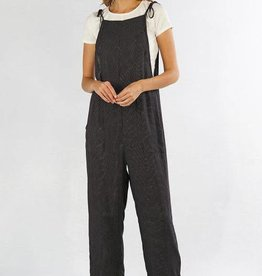 Lovestitch Lovestitch Mini Dot Tie Strap Jumpsuit