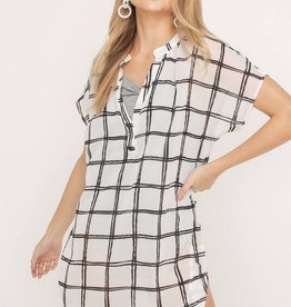 Lush Sheer Window Pane Tunic