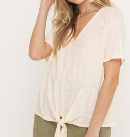 Lush V-Neck Knotted T-Shirt