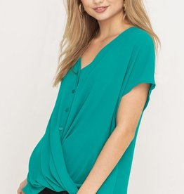Lush Lush Buttoned French Tuck Top