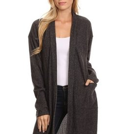 Chris & Carol Long Ribbed Cardigan w/ Pockets