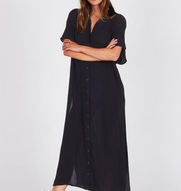 Amuse Society Side Slits Maxi Shirt Dress