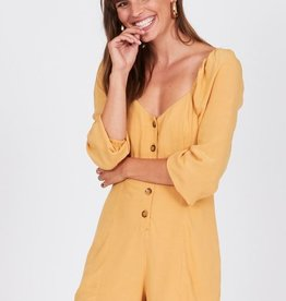 Amuse Society 3/4 Sleeve Button Up Romper