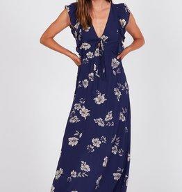 Amuse Society Ruffle Sleeve Floral Maxi Dress