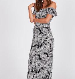 Amuse Society Bodycon Palm Print Maxi Dress