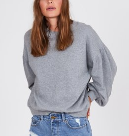 Amuse Society Puff Sleeve Pullover Sweatshirt