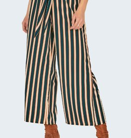 Amuse Society Striped Tie Waist Pants