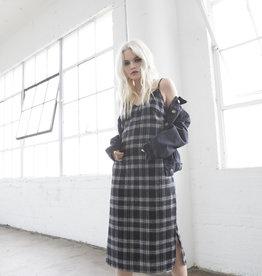Lira Plaid Flannel Slip Dress