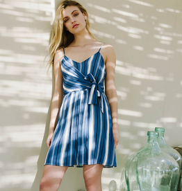 Everly Knotted Multi Stripe Dress