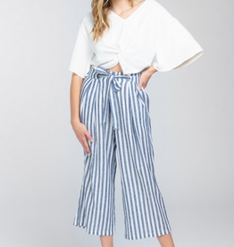 Everly Striped Paper Bag Pants
