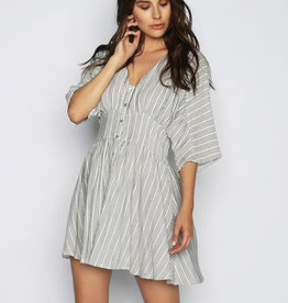 Lira Woven Striped Dress