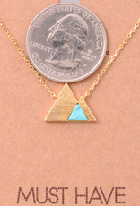 Fame Embedded Stone Mountain Charm Necklace