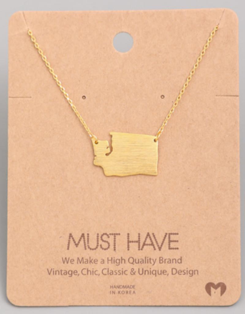 Fame Washington State Charm Necklace