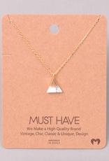 Fame Stone Mountain Charm Necklace