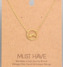 Fame Circle Mountain Charm Necklace