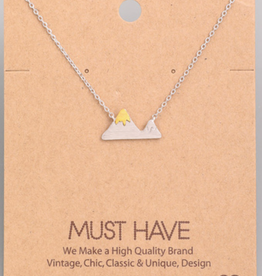 Fame Large Two-Tone Mountain Charm Necklace