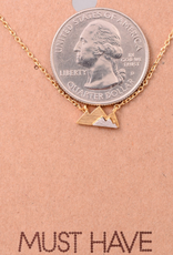 Fame Small Two-Tone Mountain Charm Necklace