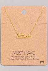 Fame Mountain Range Charm Necklace