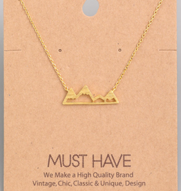 Fame Mountain Range Charm Necklace