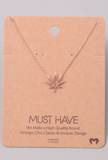 Fame Cannabis Leaf Charm Necklace