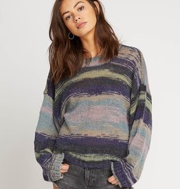 Volcom Marbled Cropped Pullover Sweater