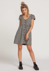 Volcom Button Up Plaid Babydoll Dress
