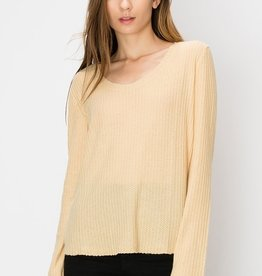 HYFVE Scoop Neck Waffle Knit Top