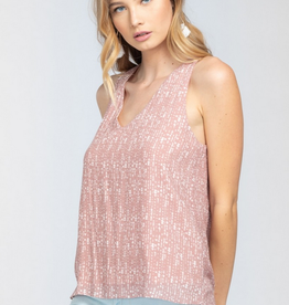 Everly Pleated Racerback Blouse