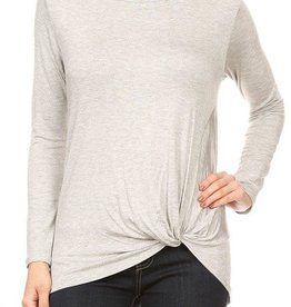 Ginger G Long Sleeve Twist Tuck Top