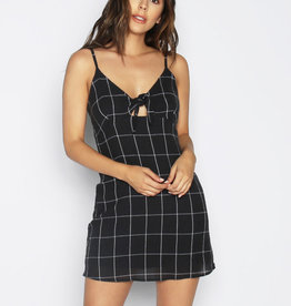 Lira Window Pane Tied Front Dress