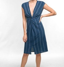 Lovestitch Striped Twist Front Dress