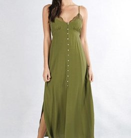 Lovestitch Button Front Slip Maxi Dress
