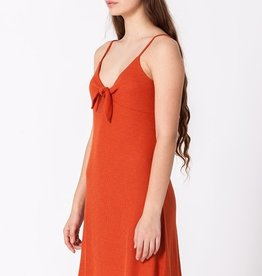 HYFVE Ribbed Knot Front Sun Dress