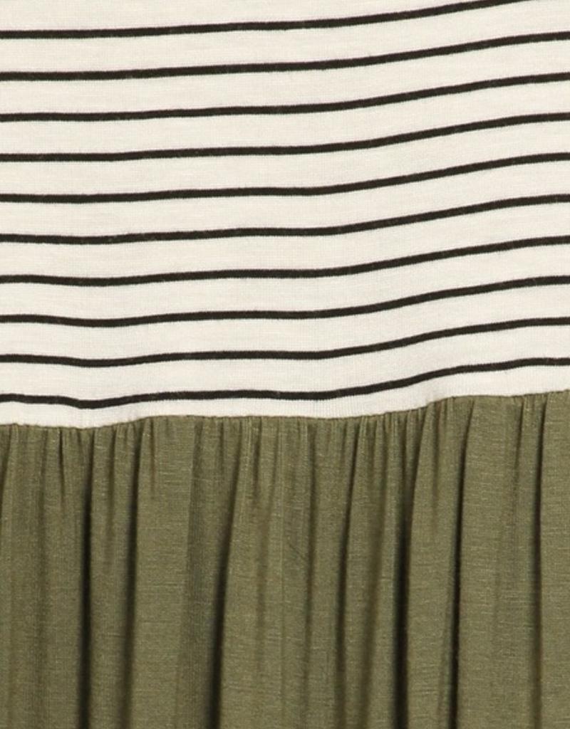 Chris & Carol Stripe & Solid Pocket Dress