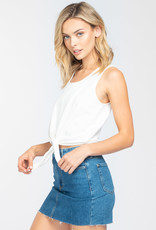 Everly Sleeveless Tie Front Top