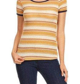 Ginger G Multi Stripe Knit Tee