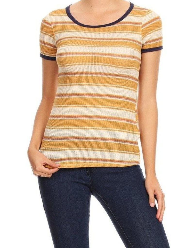 Ginger G Multi Stripe Knit Tee