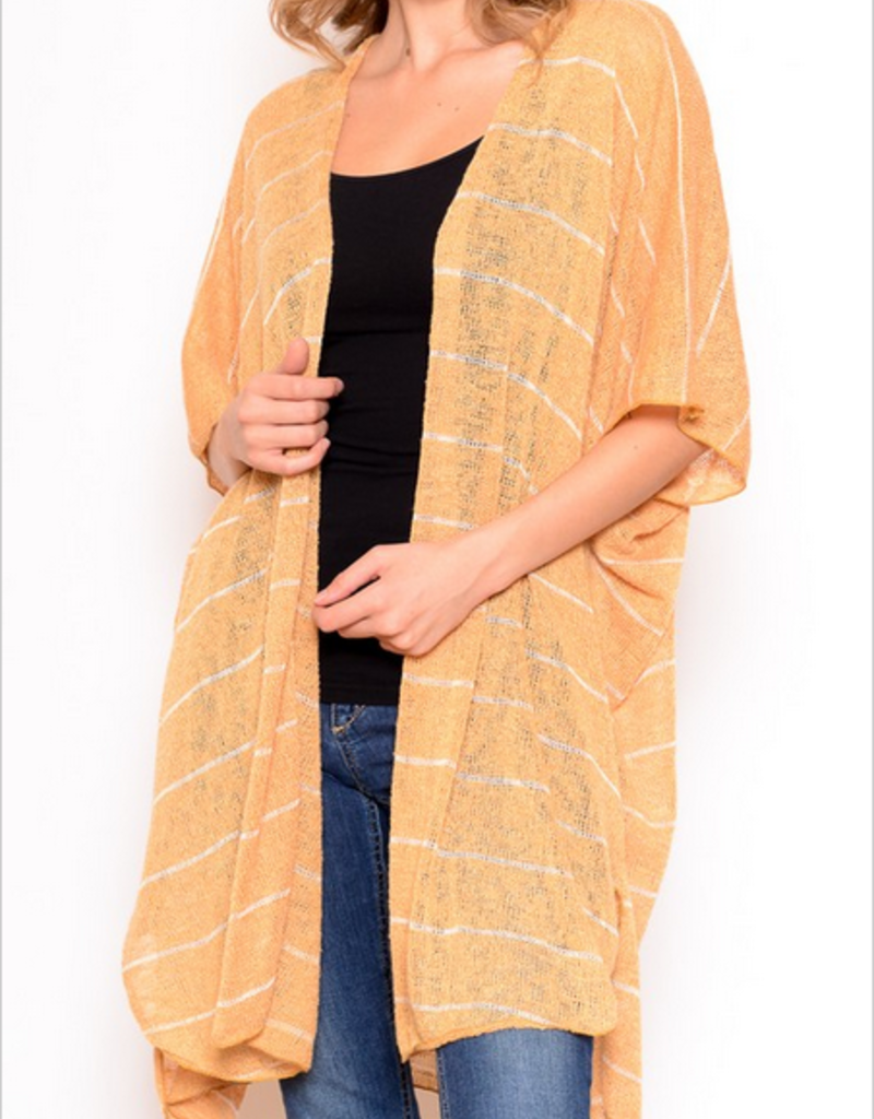 Chris & Carol Striped Short Sleeve Cardigan