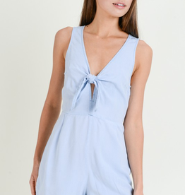 Love Tree Tied Chambray Romper