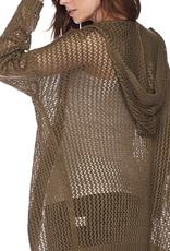 Love Tree Open Knit Hooded Cardigan