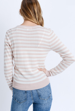 Love Tree Striped Pullover Sweater