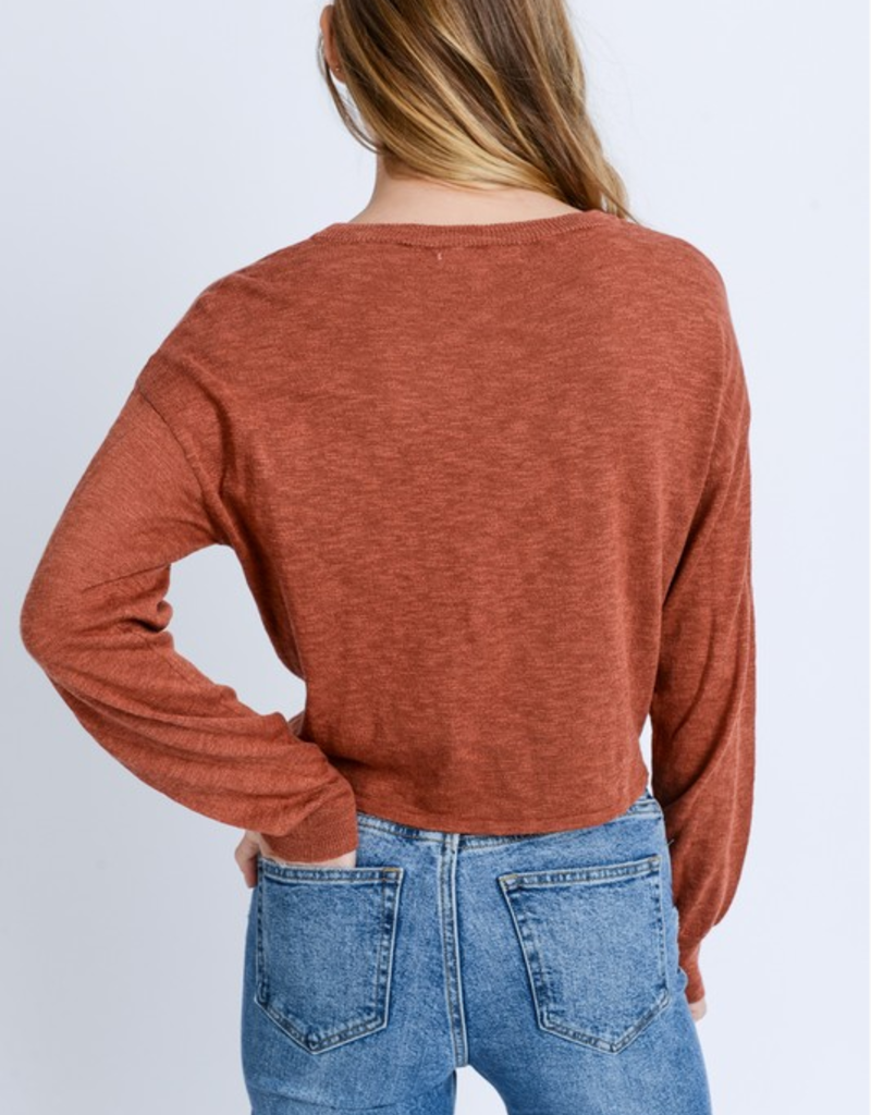 Love Tree Tied Pullover Sweater