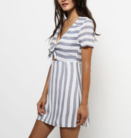 Lira Striped Front Tie Dress